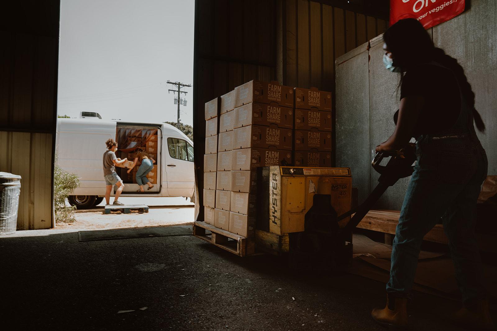 Loading Harvest Box Donations