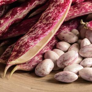 Borlotti shell beans.